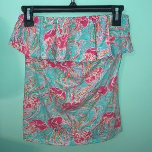 Lilly Pulitzer Strapless Top